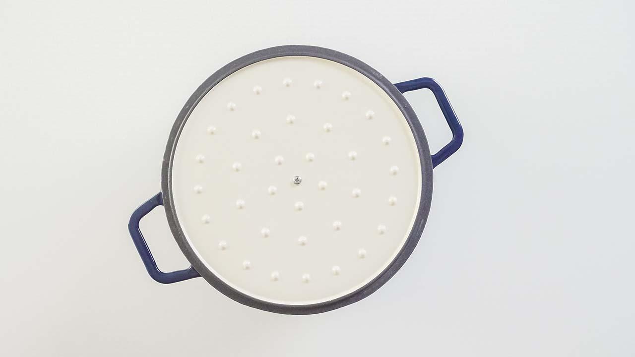 Self-basting lid