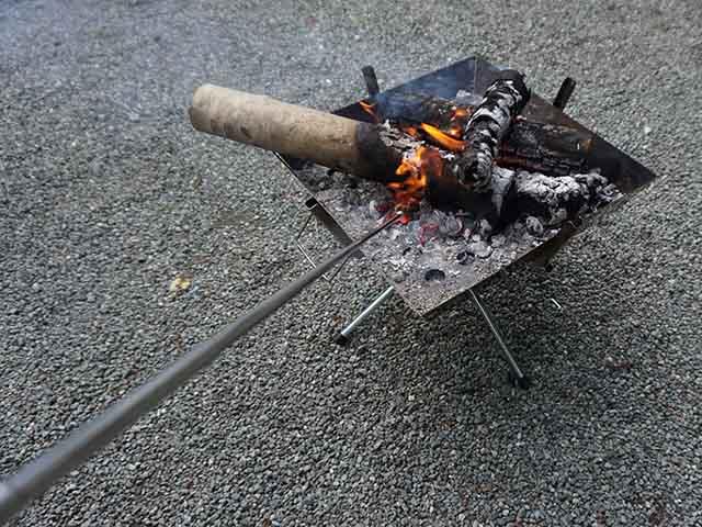 火吹き棒 焚き火からの距離
