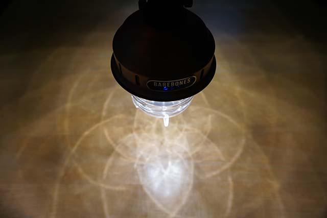 ビーコンライトの光の模様